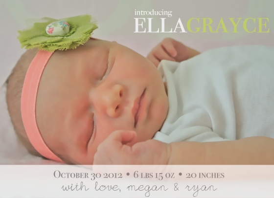 Ella Grayce Birth Announcement