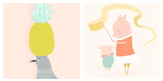 pineapple and pigs dancing