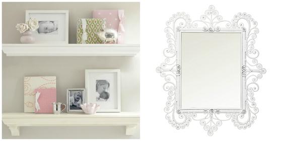 Shelf and Mirror